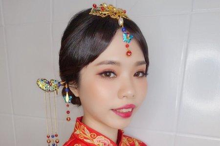 龍鳳掛中式新娘造型