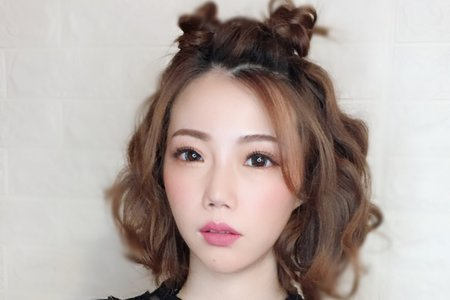 短髮雜誌風格造型/眼型調整/Ting婷 make up/桃園/台北/宜蘭新秘