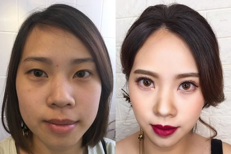 歐美時尚風/Ting婷 make up/桃園/台北/宜蘭新秘