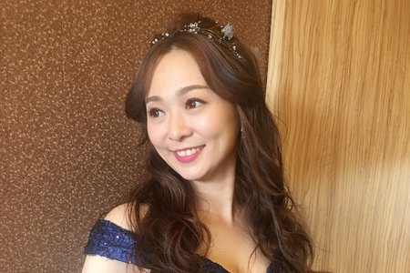 婚宴現場/公主甜美風格/簡約風格/甜美側辮髮
