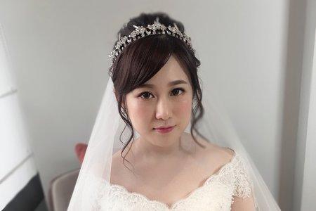 優雅皇冠造型/噴槍彩妝/桃園新秘/宜蘭新秘/宜蘭新秘