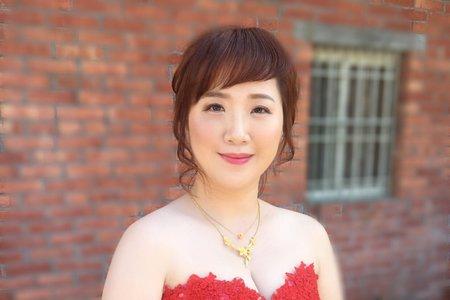 1/19婚宴作品/氣質婉約低盤髮 /Ting婷make up