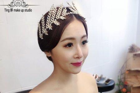 韓式氣質明媛風+皇冠/Ting 婷 make up/噴槍彩妝
