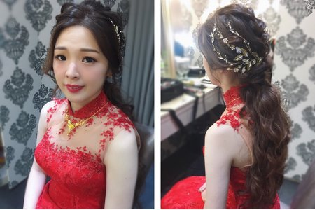 時尚造型/紅色禮服/Ting婷make up