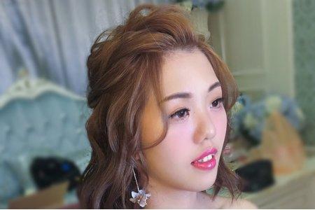 短髮新娘可愛造型/Ting婷make up
