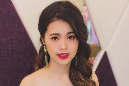 New7/21婚宴/白紗仙氣/側邊大波浪/名媛風格/Ting 婷make up