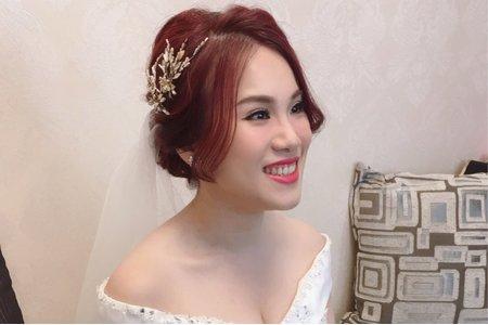 氣質優雅白紗造型/中式新娘/甜美公主風/Ting 婷make up