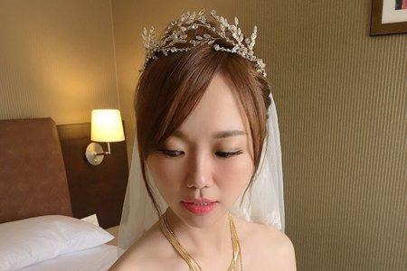 氣質皇冠/時尚低馬尾/氣質盤髮/Ting 婷 make up