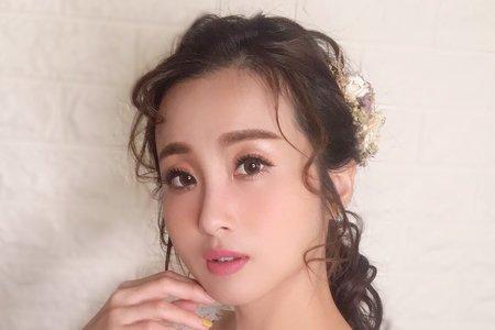 日系線條馬尾造型/甜美白紗/Ting 婷 make up