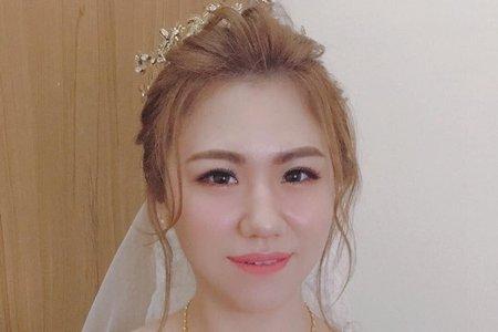 皇冠白紗造型/俏麗短髮新娘造型/時尚低馬尾/