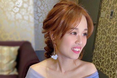 甜美辮髮馬尾/白紗造型