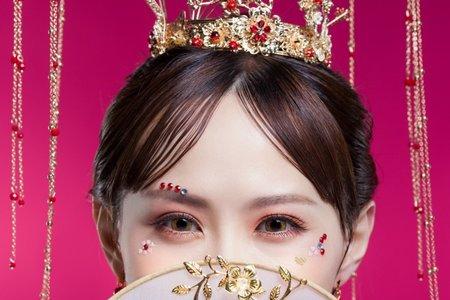秀合服/龍鳳掛/中式新娘造型/桃園新秘/台北新秘