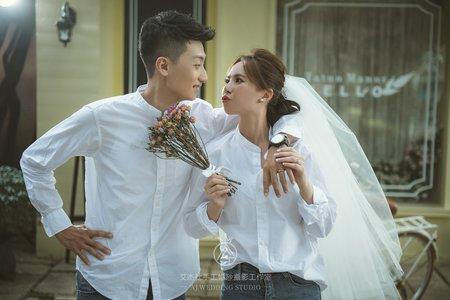 韓式浪漫|俏皮互動|便服 中壢艾杰仕婚紗