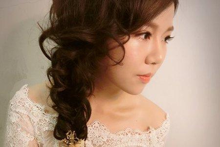 婚禮工事【作品】韓系側邊編髮