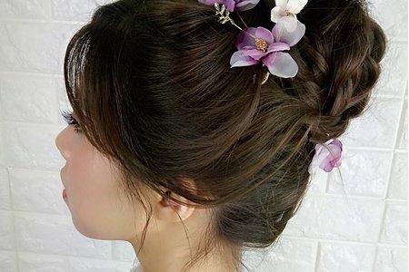 浪漫粉紫花精靈