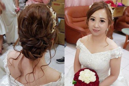 1081012韓系浪漫白紗包頭