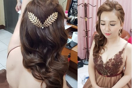 1081012高質感絲綢緞面髮型