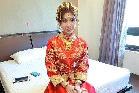 Teresa噴槍彩妝 新娘秘書- 龍鳳褂 - 宜蘭晶英酒店.