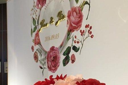 小資客製化背板方案-紅。玫瑰