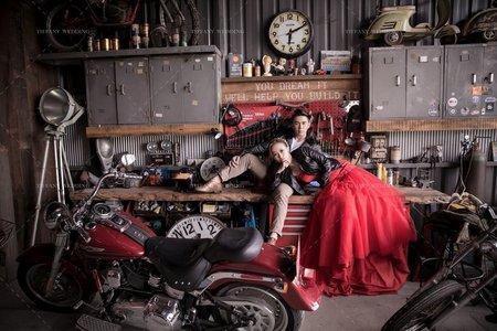 婚紗照|老舊車庫|個性