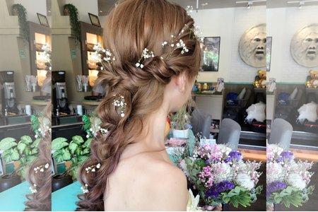 滿天星 / 浪漫編髮 / 後長髮造型
