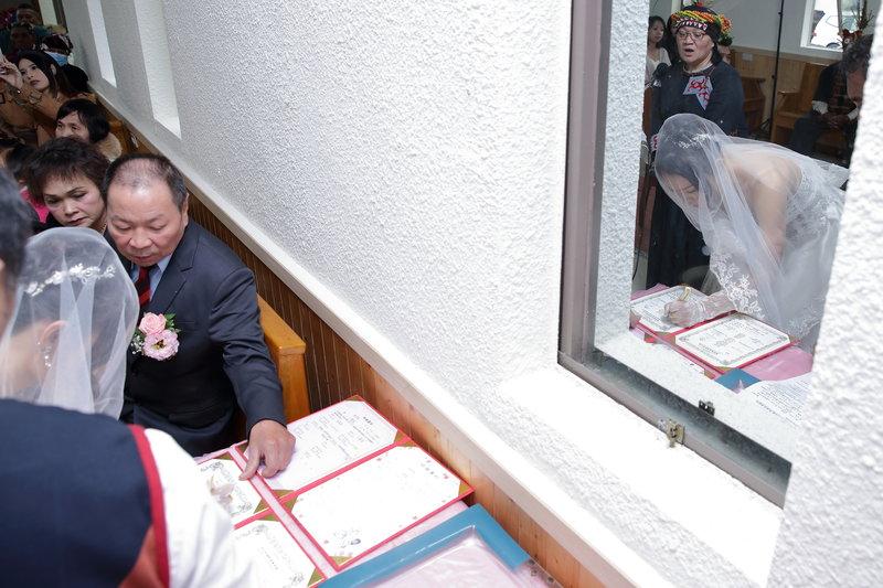 新娘證婚簽名