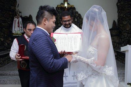 教堂證婚雙儀式+宴客11800元