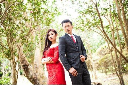 紅色魚尾雙人婚紗