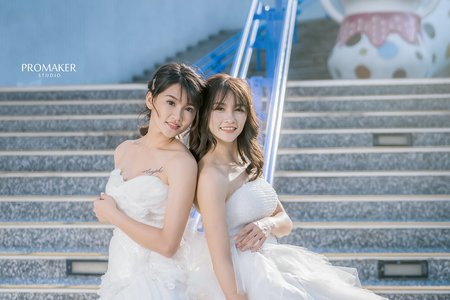 雙胞胎白紗閨蜜