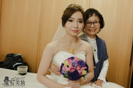 魔髮美妝~新娘孟璇-迎娶韓系皇冠編髮低髻造型~