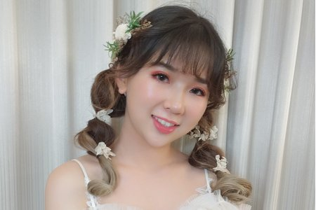艾莉のAlley_日系甜美編髮/噴槍底妝