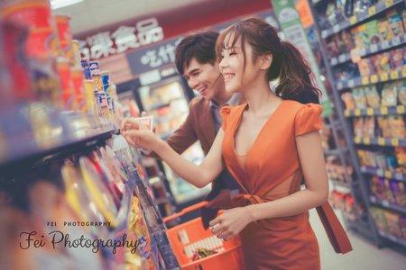 超市+仙氣自助婚紗
