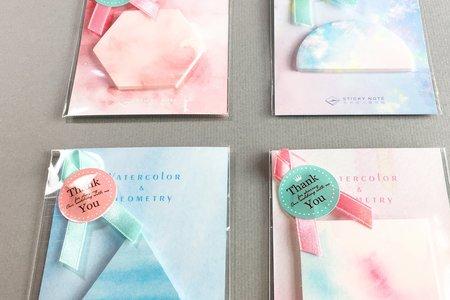 粉嫩水彩便利貼婚禮小物