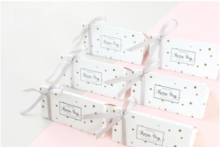 金色星星歐式創意婚禮喜糖盒(最低訂購量為50份 歐式三角喜糖盒可混搭)