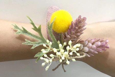 預購 韓系小森林手腕花 手環 新娘 伴娘 最低訂購量為4各  (可混賣場中手腕花 胸花)