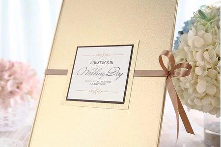 西式金色婚禮禮金簿簽到本