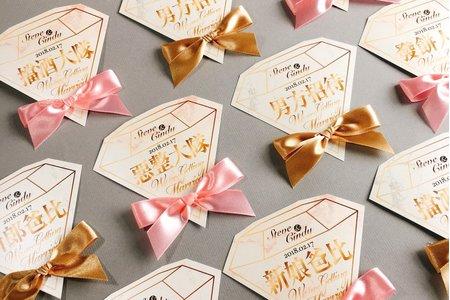 大理石雙色訂製婚禮名條組