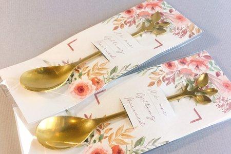 婚禮小物北歐小樹葉咖啡匙