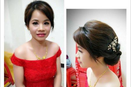 紅色禮服,敬酒