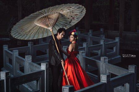特殊婚紗彩妝造型台北故宮外拍