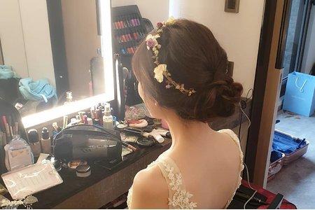 結婚韓式低髻自然清新造型名人堂大飯店