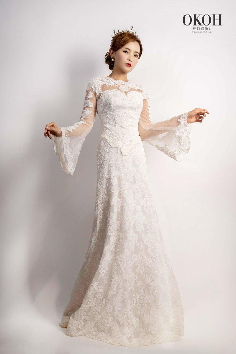 復古婚紗,乾燥花,蕾絲婚紗,拍婚紗
