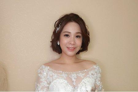 短髮新娘造型 自然妝感典雅氣質