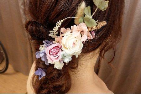 tingting 不凋花乾燥花 造型 側放捲髮