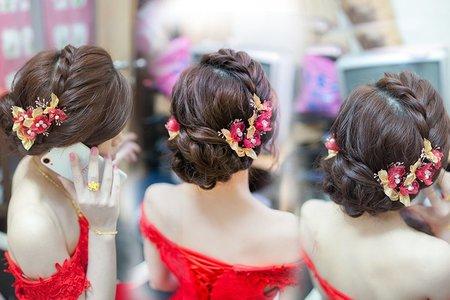 訂婚髮型 _訂婚妝髮_訂婚編髮盤髮