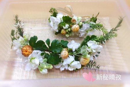 新娘單妝髮服務5800(提供鮮花頭飾)