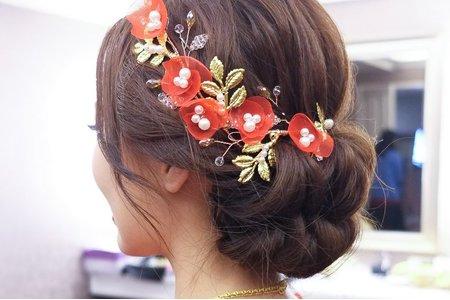 梧棲新祕_訂婚儀式造型訂婚髮型(翠吟)