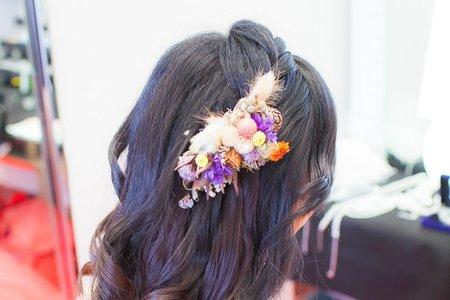 清水新祕宴客妝髮(周潔)結婚造型