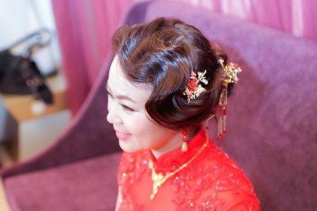 訂婚妝髮宴客造型(喬晴)清水成都