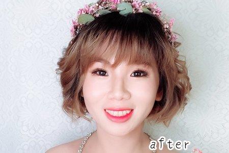 新娘眼妝妝感妝前妝後對比